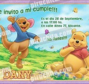 Invitación cumpleaños Winnie Pooh #18-0