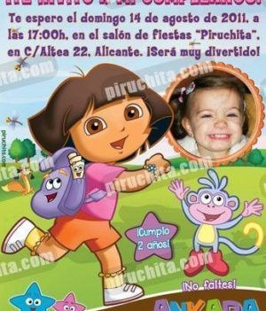 Invitación cumpleaños Dora la Exploradora #01-0