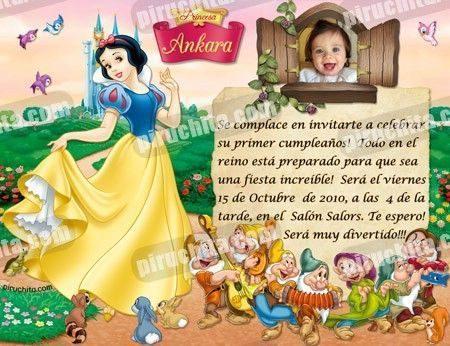 Invitación cumpleaños Blancanieves #01-0