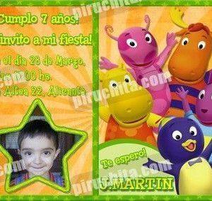 Invitación cumpleaños Backyardigans #1-0