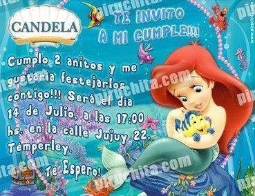 Invitación cumpleaños La Sirenita Baby-0