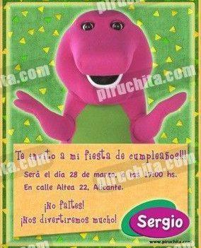 Invitación cumpleaños Barney y sus amigos #3-0