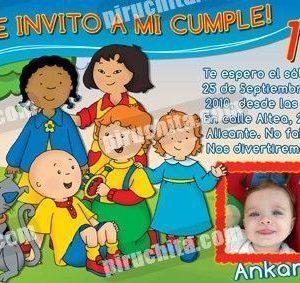 Invitación cumpleaños Caillou #04-0