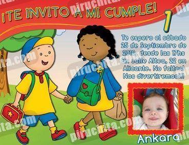 Invitación cumpleaños Caillou #05-0