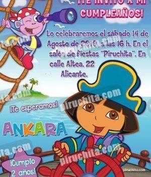 Invitación cumpleaños Dora la Exploradora #06-0