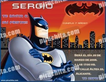 Invitación cumpleaños Batman #06-0