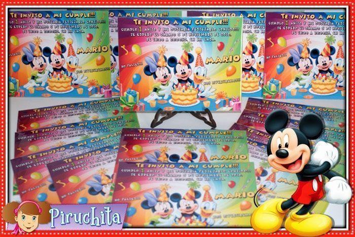 Invitación cumpleaños Mickey y sus amigos #03-1664