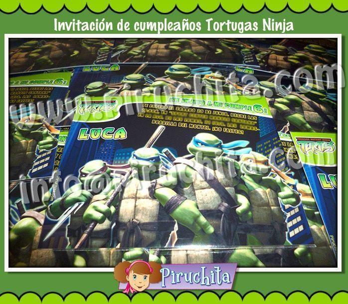 Invitación cumpleaños Tortugas Ninja #01-1677