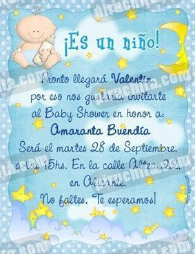 Invitación Baby Shower de niño #01-0