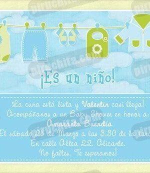Invitación Baby Shower de niño #02-0