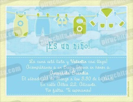 Invitación Baby Shower de niño #02-0