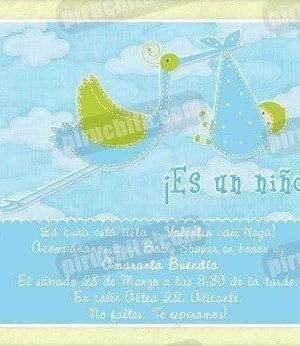 Invitación Baby Shower de niño #03-0