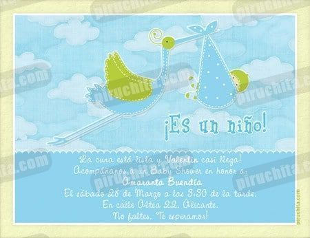 Invitación Baby Shower de niño #03-0