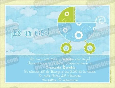 Invitación Baby Shower de niño #04-0