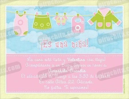 Invitación Baby Shower de niña #02-0