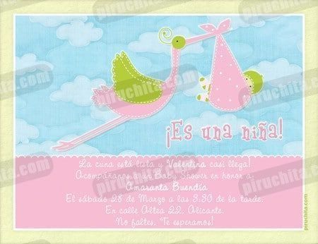 Invitación Baby Shower de niña #03-0