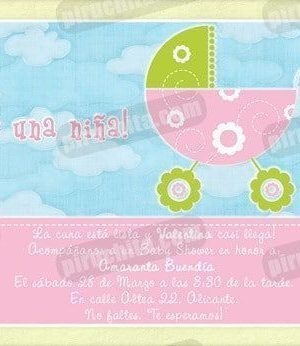 Invitación Baby Shower de niña #04-0