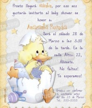 Invitación Baby Shower #02-0
