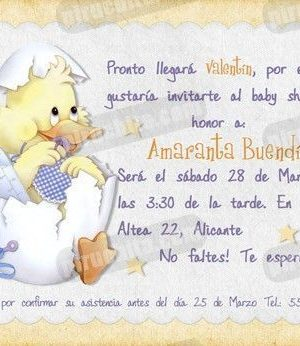 Invitación Baby Shower #01-0