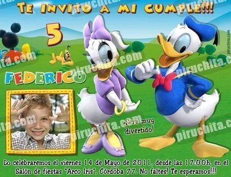 Invitación cumpleaños La Casa de Mickey #08-0