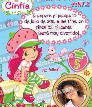 Invitación cumpleaños Tarta de fresa #02-0