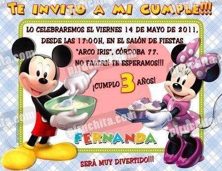 Invitación cumpleaños La Casa de Mickey #07-0