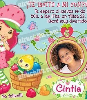 Invitación cumpleaños Tarta de fresa #04-0