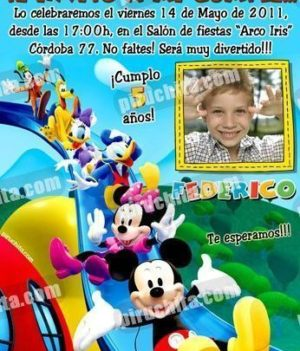 Invitación cumpleaños La Casa de Mickey #04-0