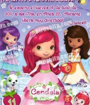 Invitación cumpleaños Tarta de fresa #07-0