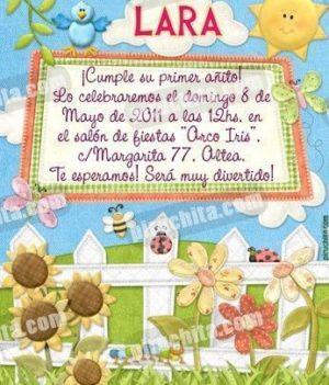 Invitación cumpleaños Primavera/Jardín #01-0