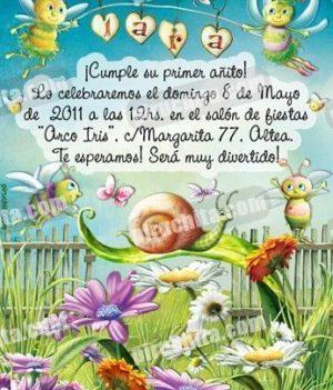 Invitación cumpleaños Primavera/Jardín #03-0
