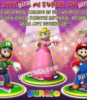 Invitación cumpleaños Mario Bros #11-0