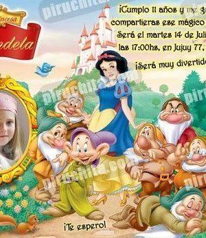 Invitación cumpleaños Blancanieves #10-0
