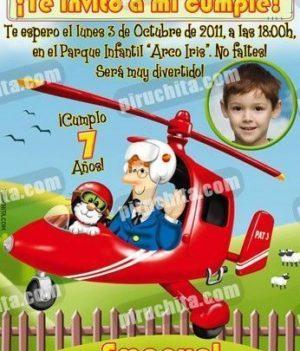 Invitación cumpleaños Pat el Cartero #02-0