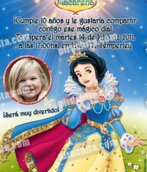 Invitación cumpleaños Blancanieves #11-0