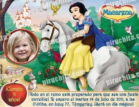 Invitación cumpleaños Blancanieves #12-0
