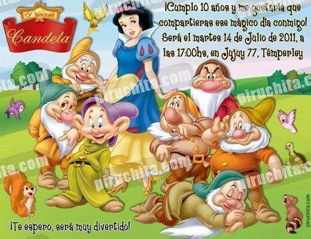 Invitación cumpleaños Blancanieves #05-0