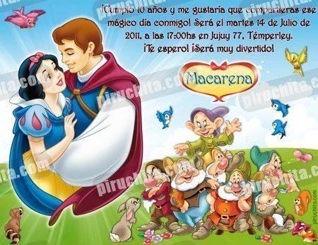 Invitación cumpleaños Blancanieves #13-0