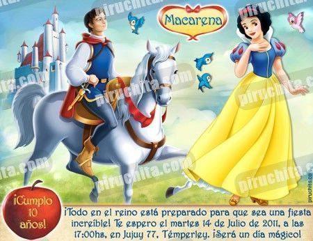 Invitación cumpleaños Blancanieves #08-0