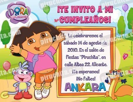 Invitación cumpleaños Dora la Exploradora #14-0
