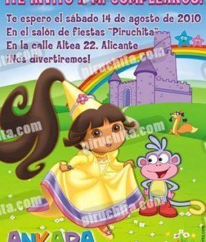 Invitación cumpleaños Dora la Exploradora #16-0