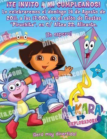 Invitación cumpleaños Dora la Exploradora #17-0