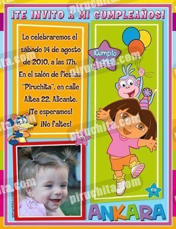 Invitación cumpleaños Dora la Exploradora #18-0