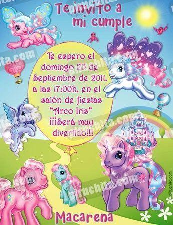 Invitación cumpleaños Mi Pequeño Pony #02-0