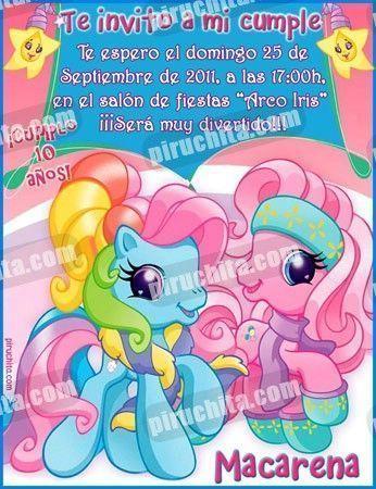 Invitación cumpleaños Mi Pequeño Pony #03-0