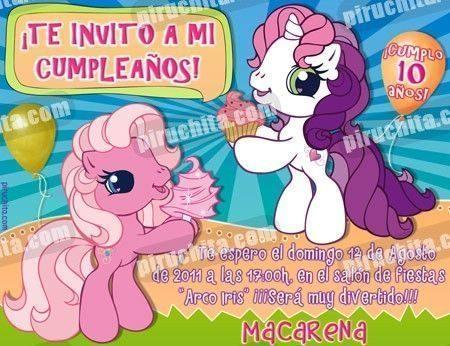 Invitación cumpleaños Mi Pequeño Pony #07-0