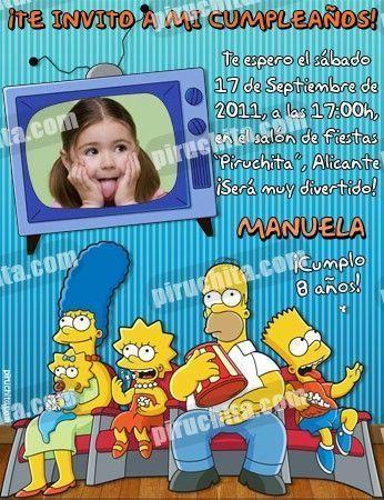 Invitación cumpleaños Los Simpsons #02-0