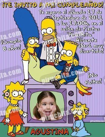 Invitación cumpleaños Los Simpsons #04-0