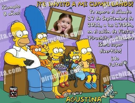 Invitación cumpleaños Los Simpsons #06-0