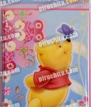 Invitación cumpleaños Winnie Pooh #00 Pack de 6 unidades-0